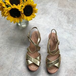 kate spade Rainbow Rope Wedges Size 7